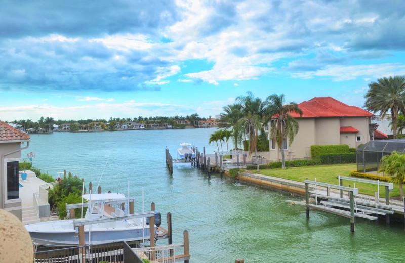 Rental docks at Walker Vacation Rentals.