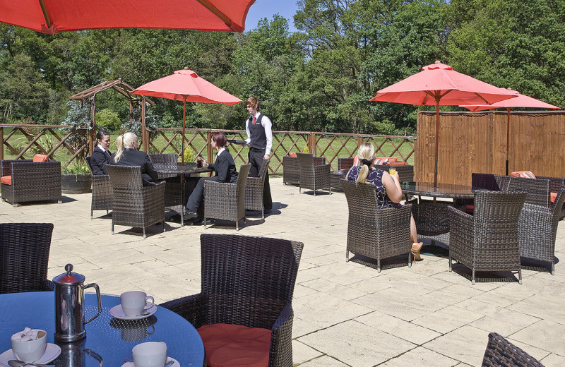 Patio at Grovefield Hotel.