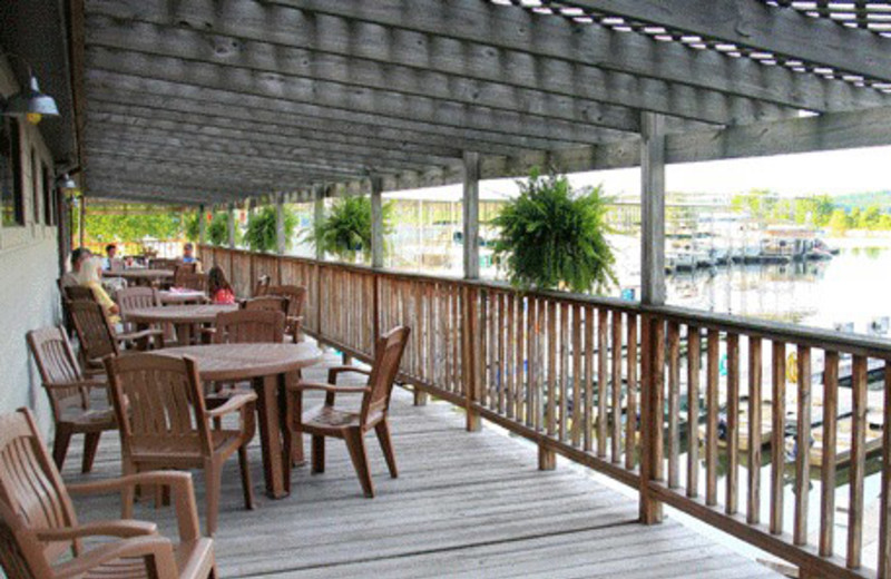Patio Dining at Eddy Creek Marina Resort