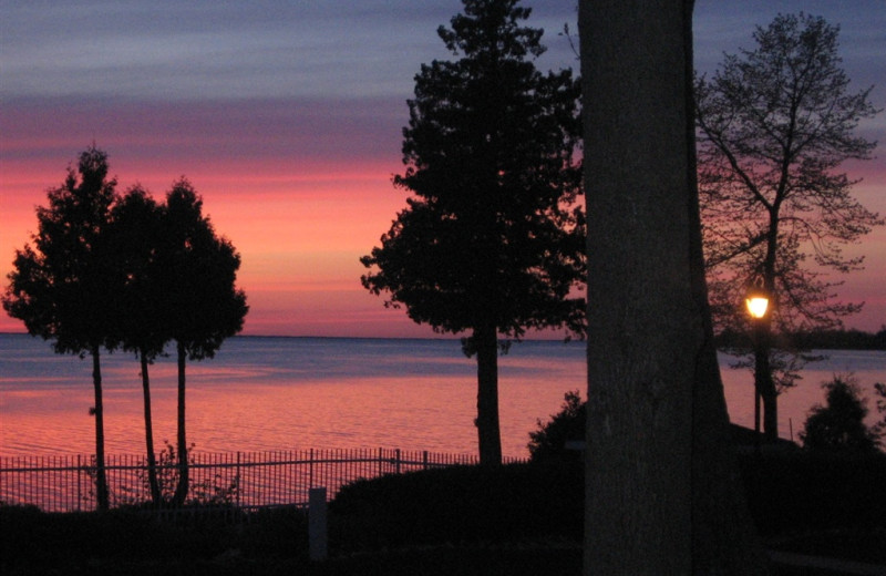 Sunset at Westwood Shores Waterfront Resort.