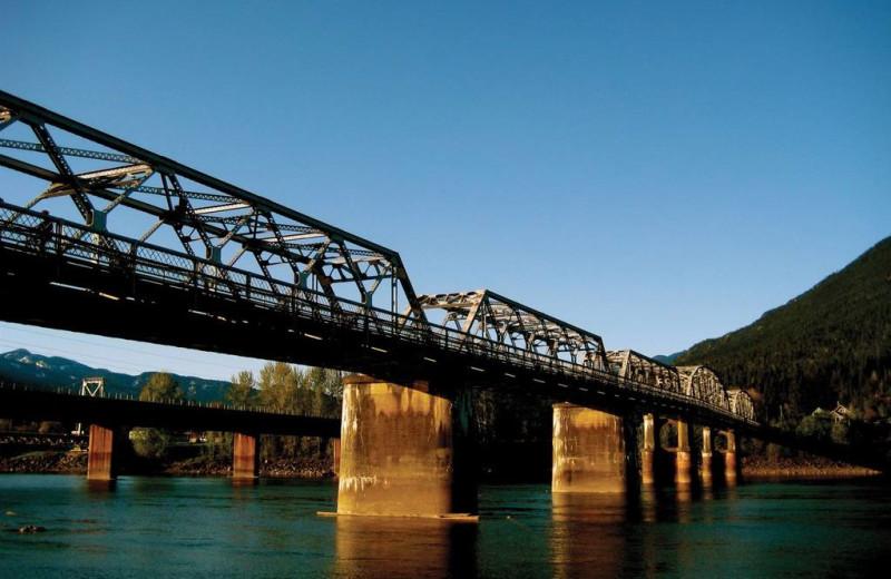 Bridge at Glacier House Resort.