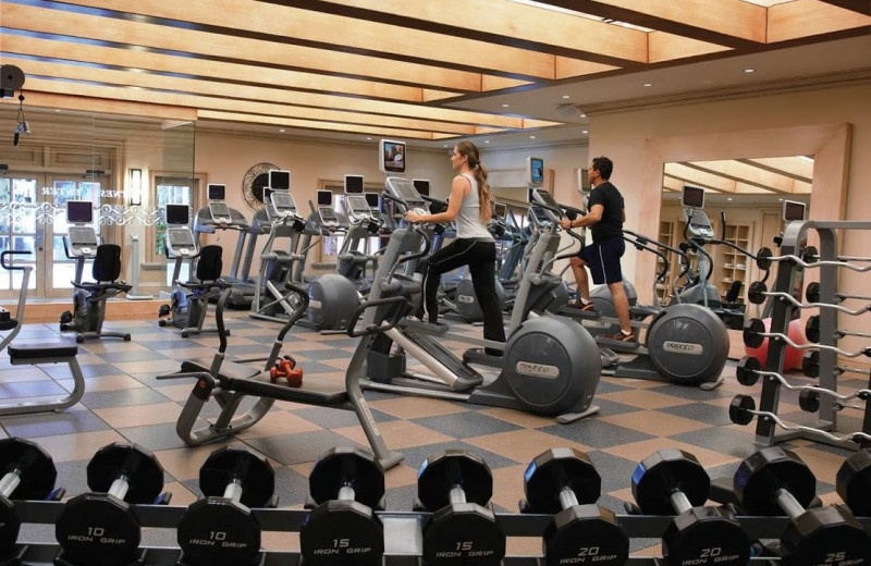 Fitness center at  Los Cabos Resort.