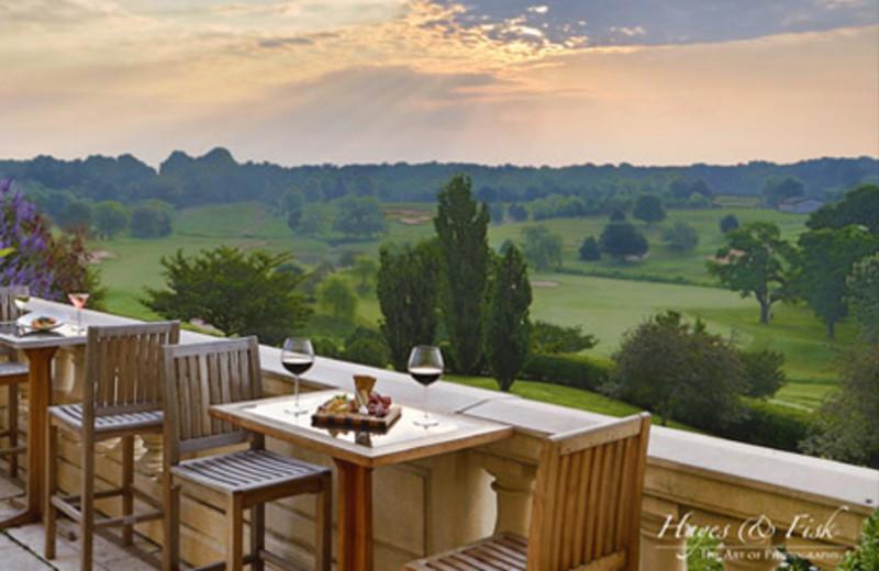Dining view at Keswick Hall.