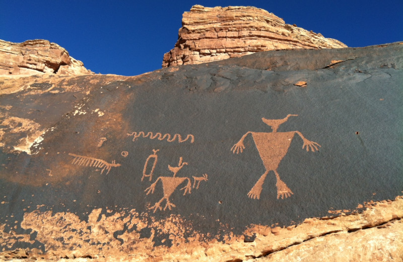 Historical markings at Canyonlands Lodging.