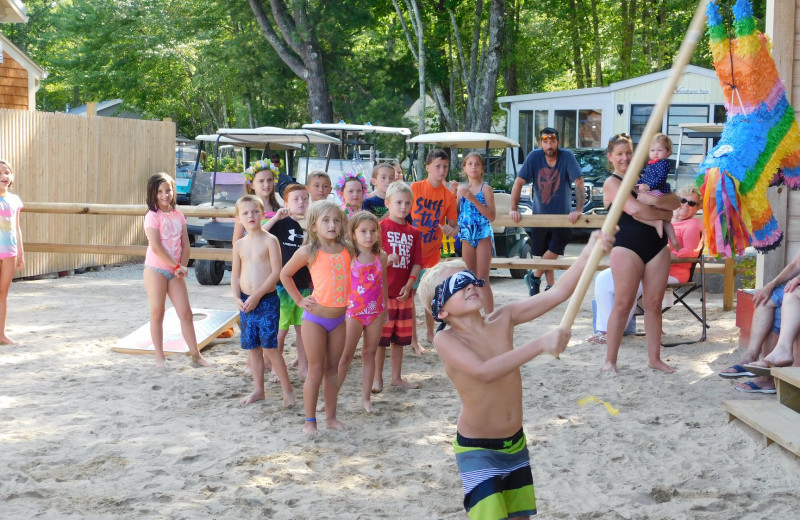 Family games at Westward Shores Camping Resort.