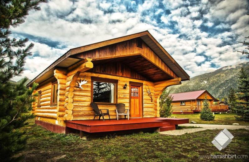 Cabin exterior at Glacier House Resort.