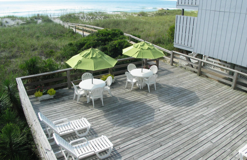 Sun deck at Beach House Inn and Suites.
