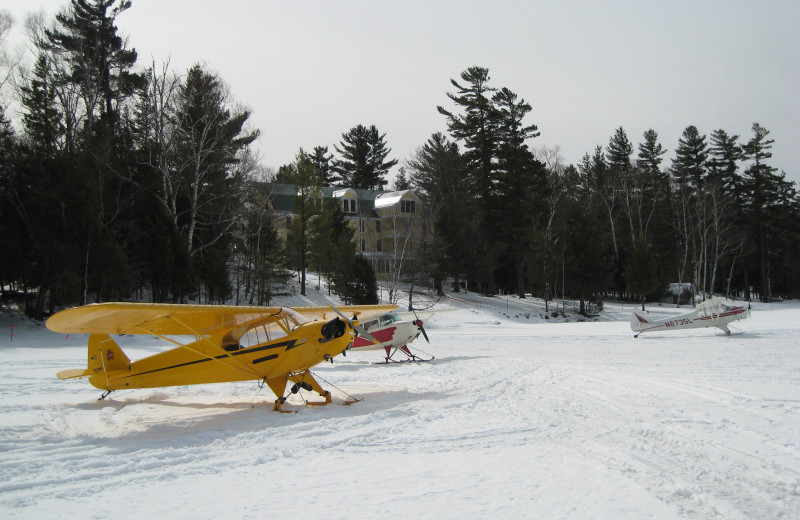 Snow plane at The Woods Inn.