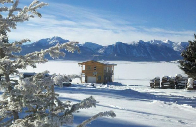 Winter time at Jared's Wild Rose Ranch Resort.