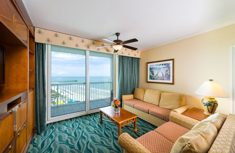 Guest living room at Westgate Myrtle Beach.