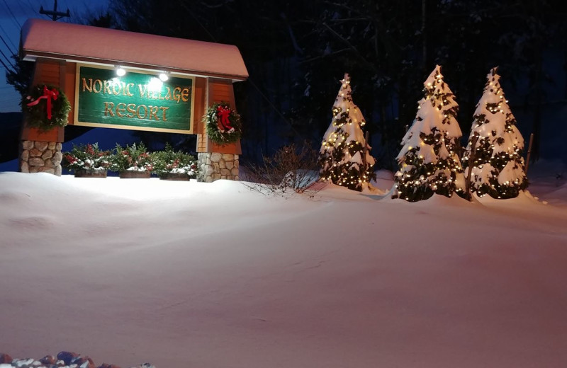 Winter at Nordic Village Resort.