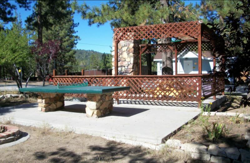 Ping pong table at Blue Horizon Lodge.