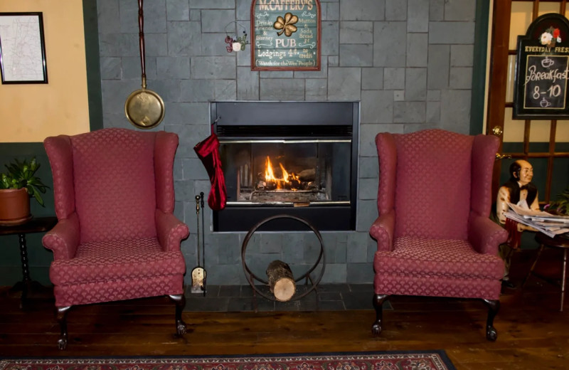 Fireplace at The Cornell Inn Lenox.