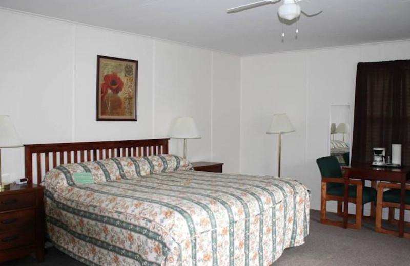 Guest room at Aurora Inn & Motel.