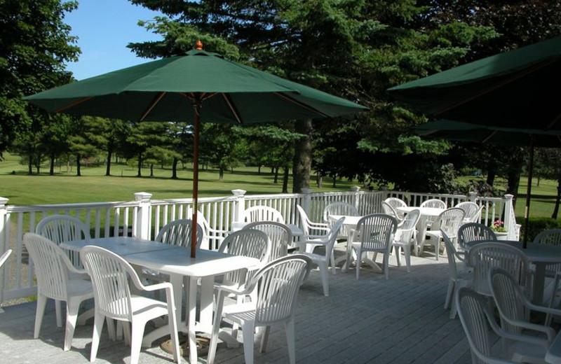 Clubhouse patio at Rainbow Golf Club.