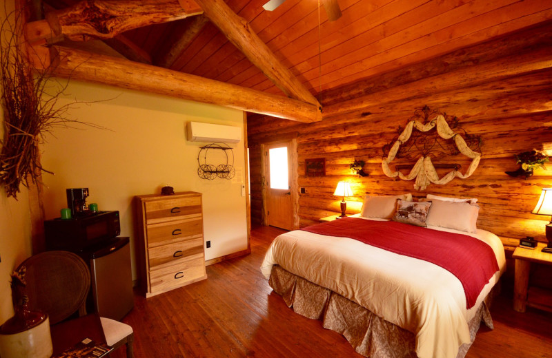 Guest room at Red Horse Mountain Ranch.