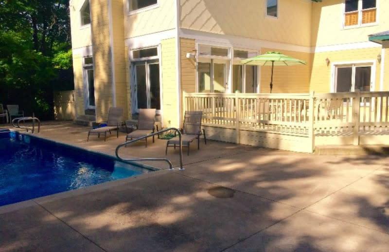 Outdoor pool at Lake Michigan Reunion & Retreat.