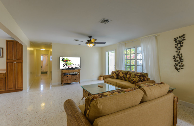 Rental living room at Luxury Rentals by At Home in Key West.
