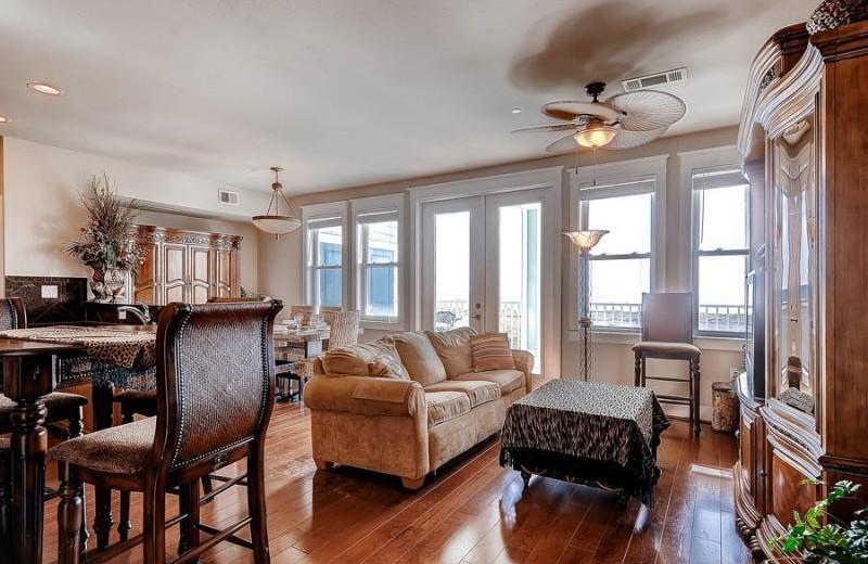 Rental living room at Pointe West Properties.
