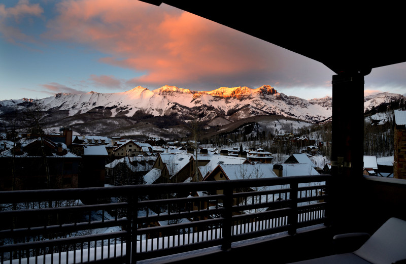 Balcony view at Lumiere Telluride.