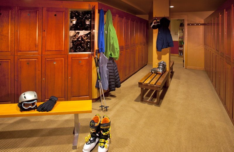 Ski room at Edelweiss Lodge and Spa.
