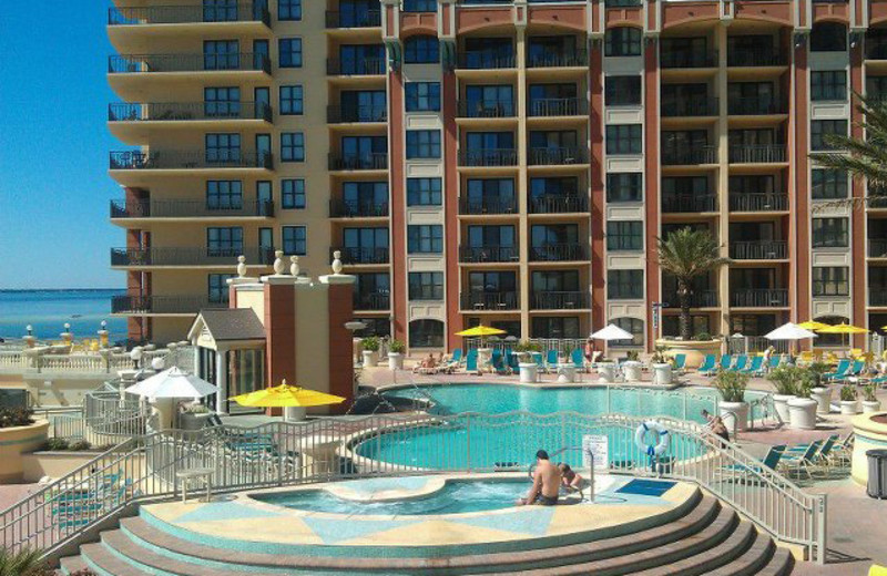 Outdoor pool at Emerald Grande.