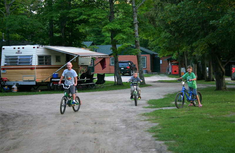 Biking at Timber Trails Resort.