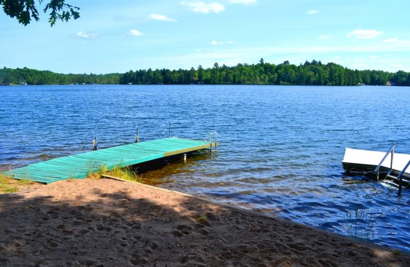 Resort beach at Lakeland Rental Management.