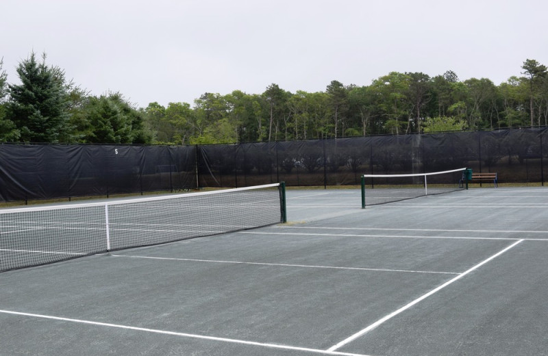 Tennis court at New Seabury Resort.