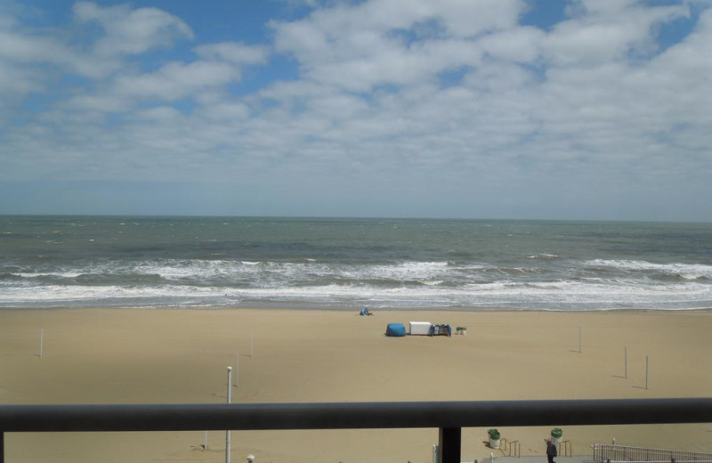 Beach view at Four Sails Resort.