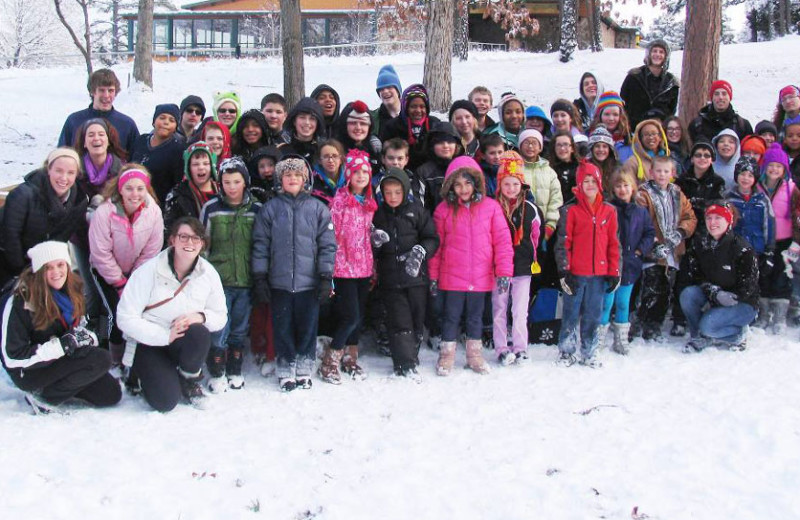 Group at YMCA Trout Lodge & Camp Lakewood.