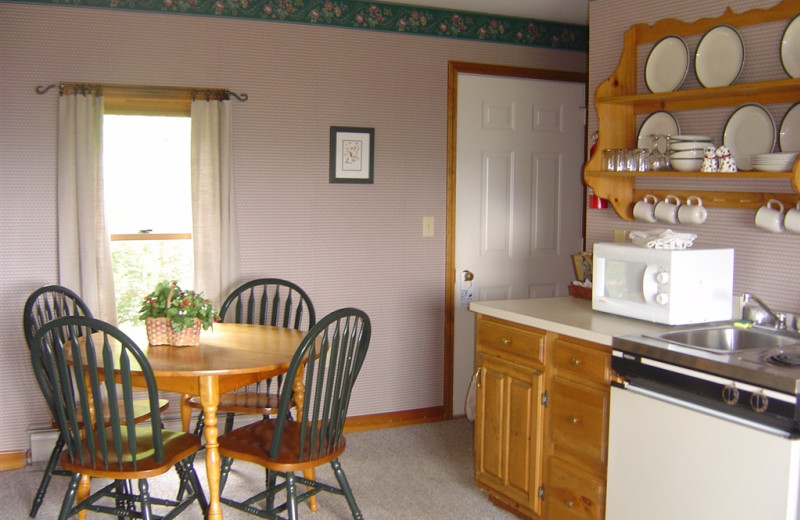 Guest kitchen at The Wildflower Inn.