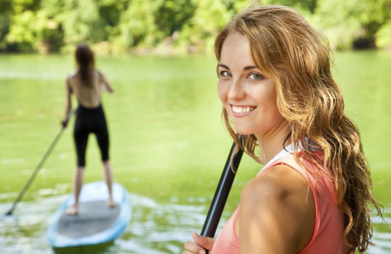 Paddle board at Rumbling Bald Resort.