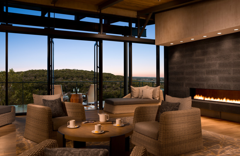 Spa lounge at La Cantera Resort & Spa.