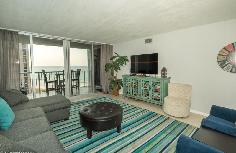 Rental living room at Holiday Isle Properties, Inc.