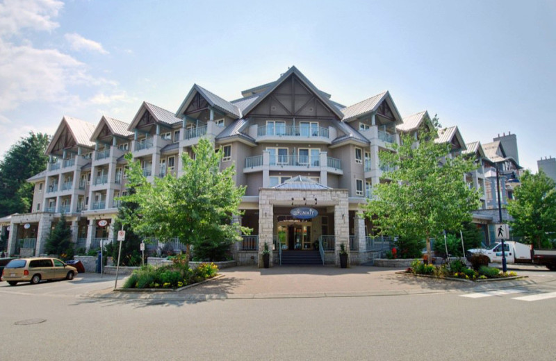 Exterior view of Summit Lodge & Spa Whistler.
