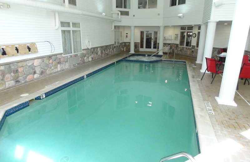 Indoor pool at The Cherry Tree Inn & Suites.