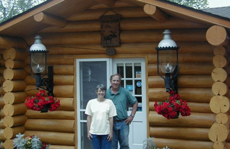 Cabin exterior at Rockwood Lodge.