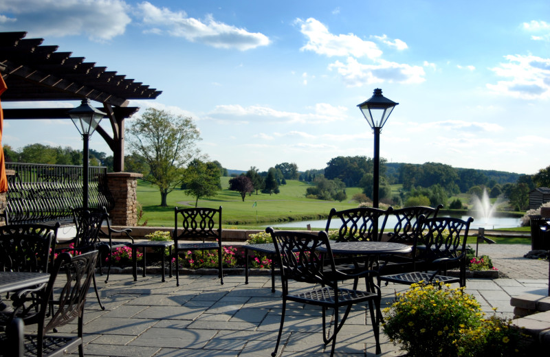 Patio view at Heritage Hills Golf Resort.
