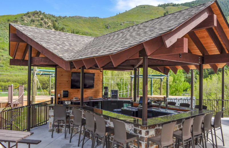 Patio at Glenwood Canyon Resort.