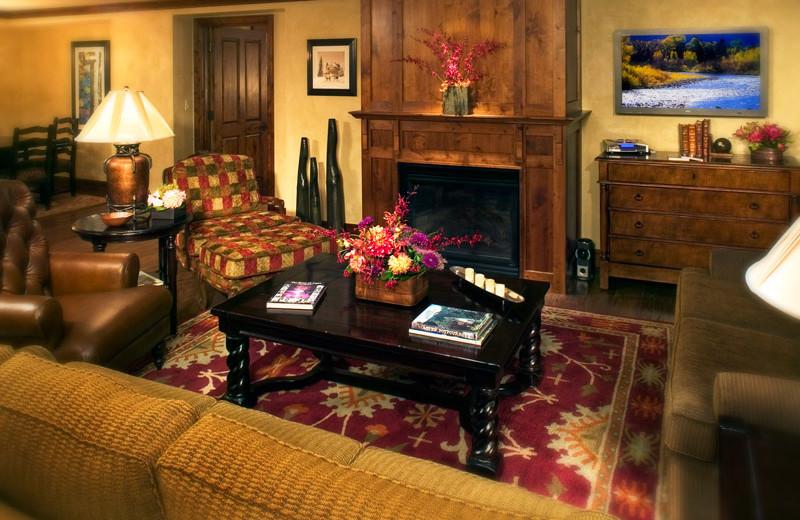 Rental living room at Frias Properties of Aspen - Hyatt Grand Aspen.