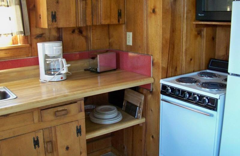 Cottage Small Kitchen at Ridgecrest Resort