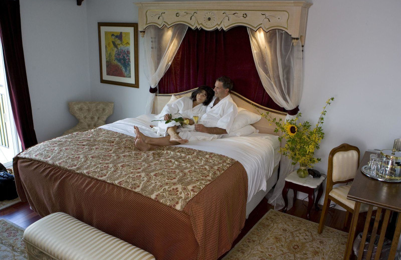 Guest room at La Tourelle Hotel & Spa.