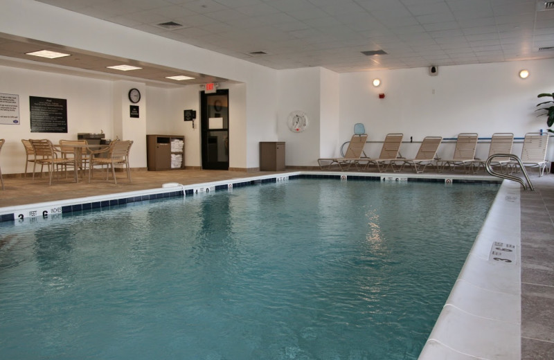 Indoor pool at Hampton Inn Long Island-Commack.