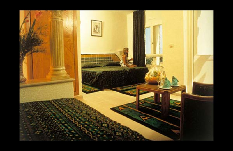 Guest room at Abou Nawas Tozeur.