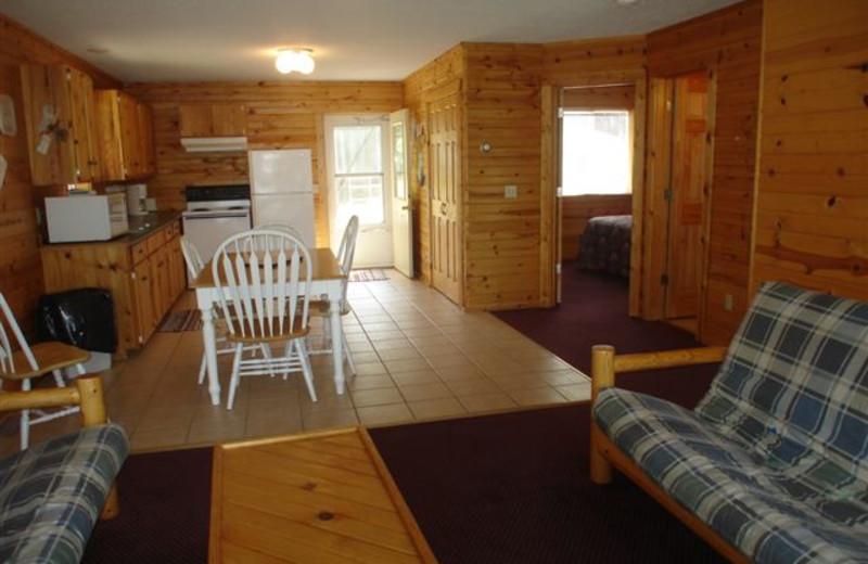 Cabin Interior at Ice Cracking Lodge & Resort