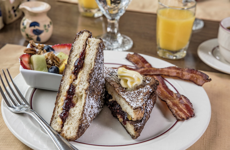 Stuffed French toast at the three-course breakfast at Glenlaurel, A Scottish Inn & Cottages.