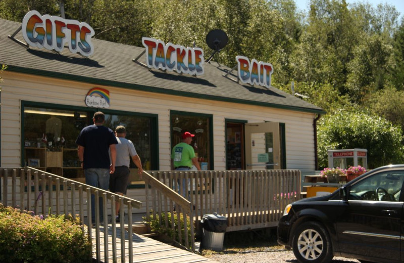 Tackle shop at Rainbow Point Lodge.