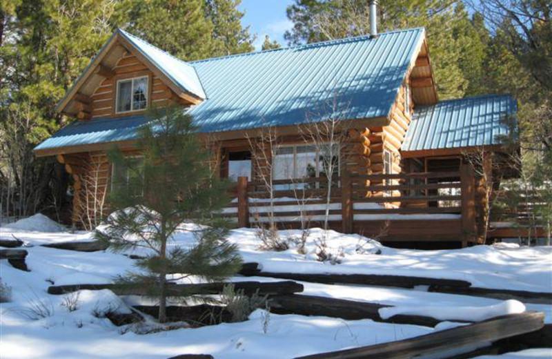 Cabin exterior at Aspen Ridge Resort.