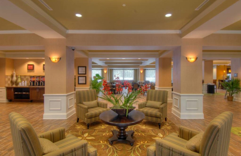 The lobby at Hampton Inn & Suites Jekyll Island.